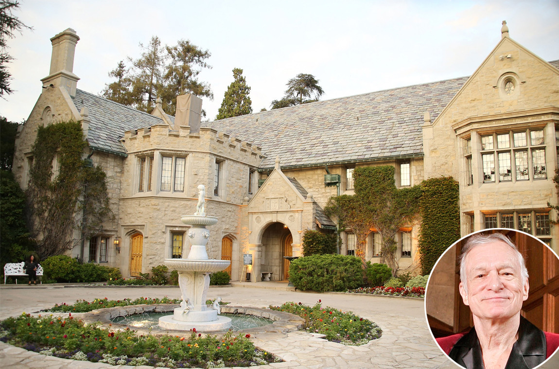 Venduta per 100 milioni la Playboy Mansion di Hugh Hefner