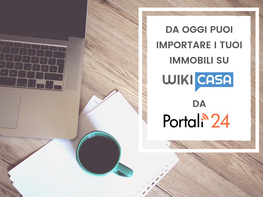 Nuova partnership tra Wikicasa e il software gestionale Portali24